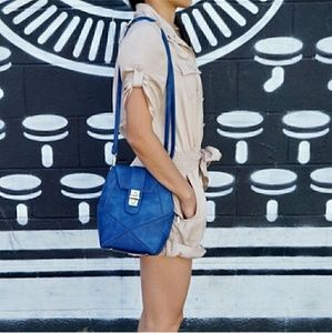 Stunning Bright Blue Geometric Crossbody